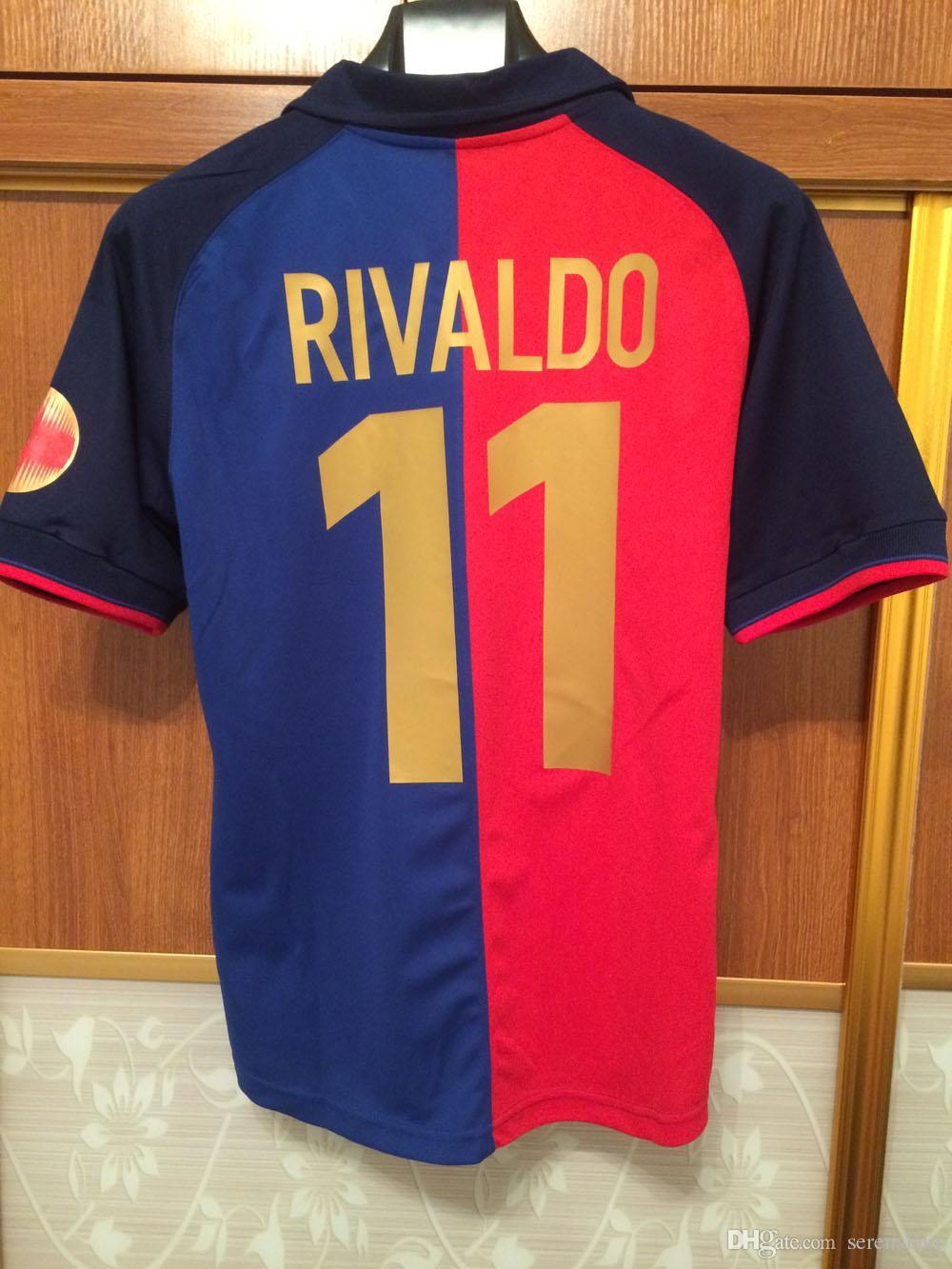 new products 92c91 3ce4c 1998-1999 Centennial Edition Vintage Jerseys Retro Jersey Rivaldo Litmanen  Enrique Guardiola Kluivert Retor Classic Shirts