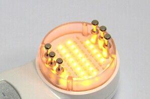 DIY Mini Microcurrent LED Blue Red Yellow Light Bio Skin Föryngring Maskin Hem Användning Terapi Face Care Device