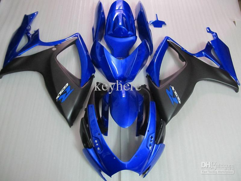 Пользовательские краски обтекатель комплект для 2008-2010 SUZUKI GSXR600 GSXR750 K8 обтекатели GSXR 600 750 08 09 10 синий черный мотоциклы
