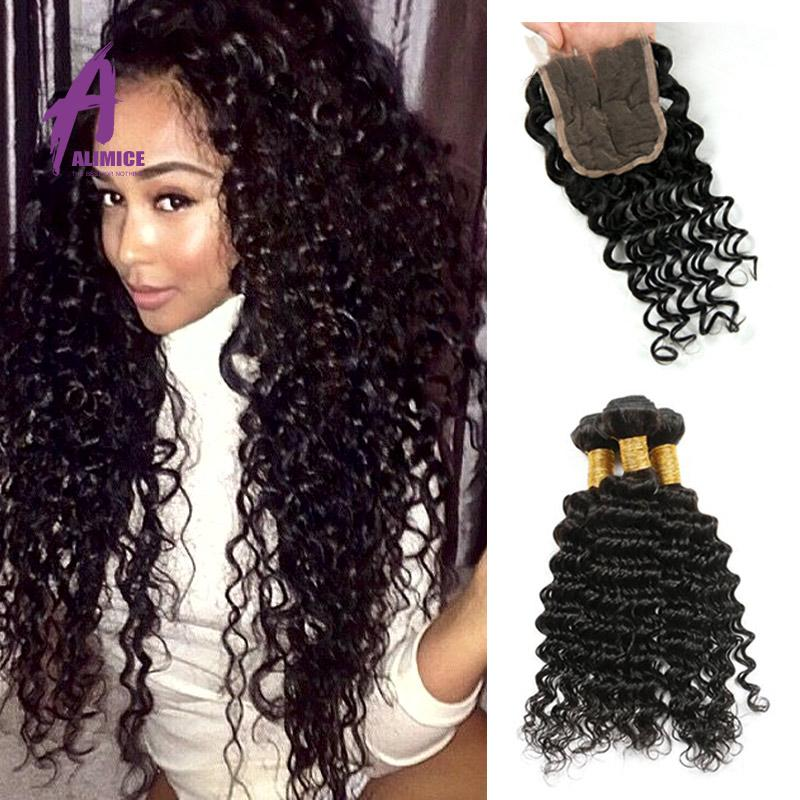 Brazilian curly weave with closure