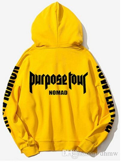 Purpose Felpe Newest 2018 Tour Stadium Bieber Justin Acquista YC4xS4