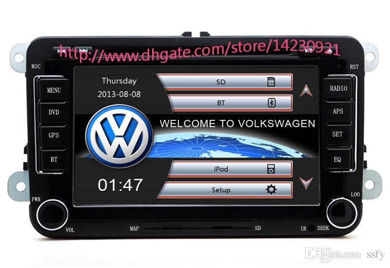 Großhandel! 2 Din 7 Zoll Auto DVD Player Für VW / Volkswagen / Passat / POLO / GOLF / Skoda / Seat Mit 3G USB GPS BT IPOD FM RDS Kostenlose Karten