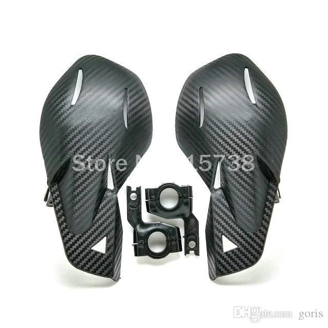 بارد أسود الكربون دراجة نارية Handguards الحرس اليد لهوندا ياماها الأوساخ KTM MX ATV