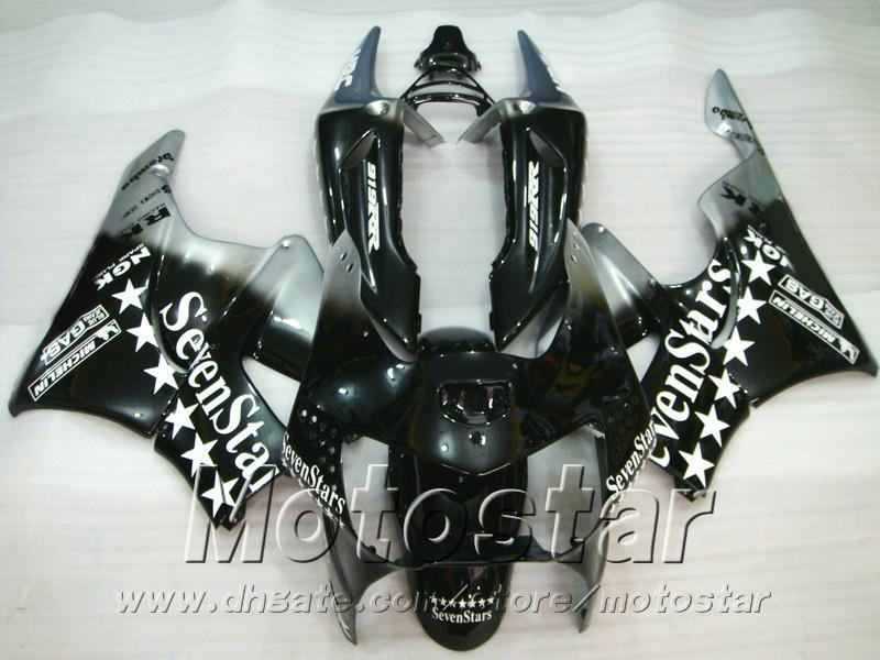 Bodywork set for Honda CBR900 RR fairings 1998 1999 CBR900RR black Sevenstars plastic fairing kit CBR919 98 99 QD18