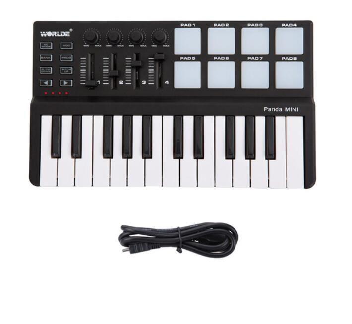 High Quality Worlde mini Portable Mini Keyboard and Drum Pad 25-Key USB  MIDI Controller Free Shipping
