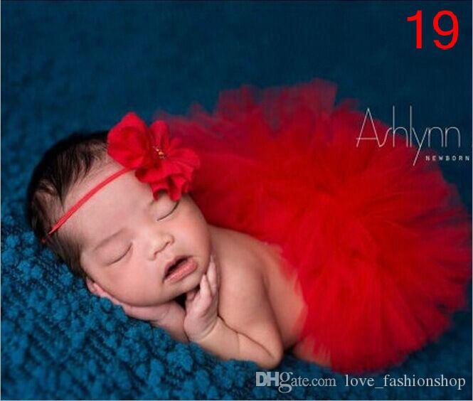 31 الألوان مطوي طفلة الأطفال توتو تنورة تنورة العصابة مجموعات NewbornToddler الزي يتوهم أزياء الدعاوى الصورة لطيف هدية عيد ميلاد