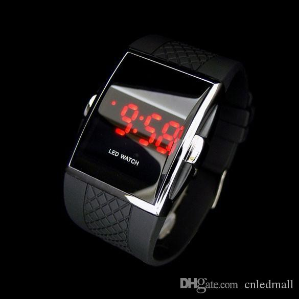Free Shipping Best Gift Men's Luxury Date Digital Sport Led Watch With Red Light intercrew watch
