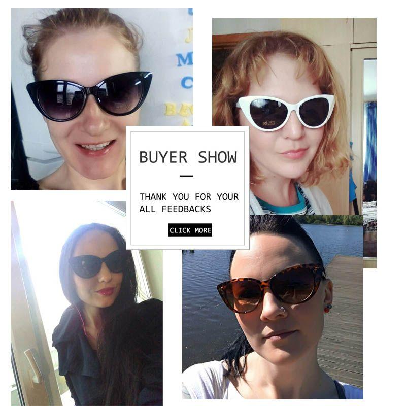 Lunettes de soleil yeux de chat sexy femmes lunettes de soleil en plastique blanc noir Superstar marques