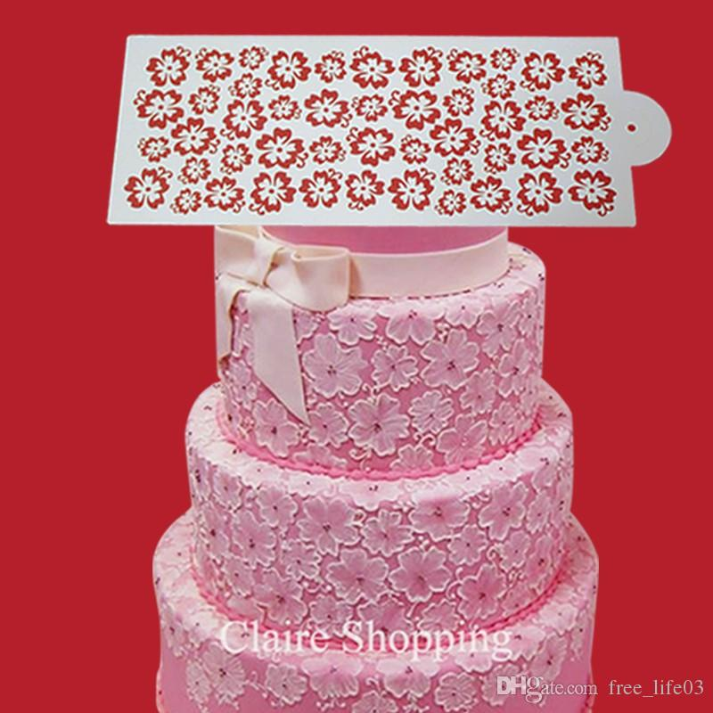 Sugarcraft Newest lace cake stencil beautiful for wedding cake decorating cake tools Food grade kitchen bakeware