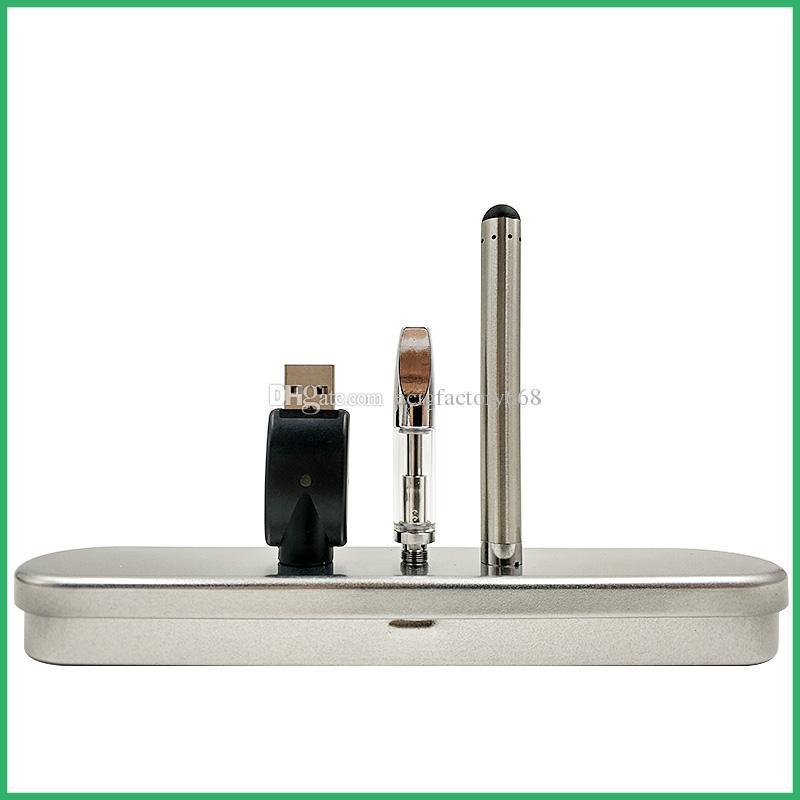 Cartuchos de vidrio Kit de caja de batería BUD táctil vaporizador pluma cartuchos vape aceite grueso vaporizador cera vape mod CE3 atomizador y kits de cig