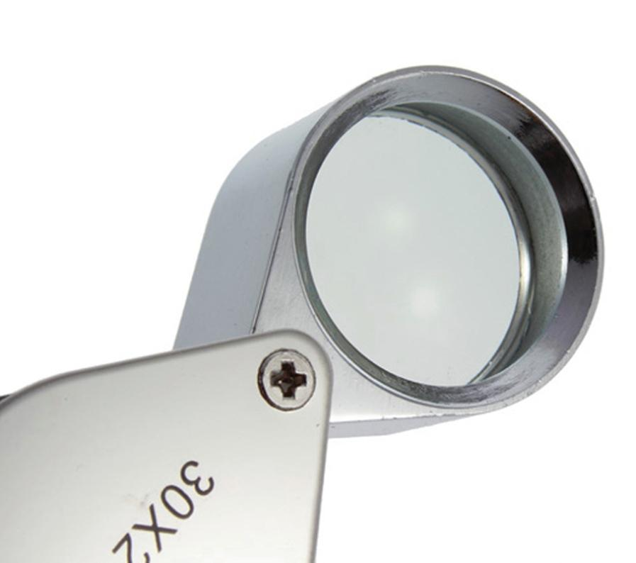 Hot sales 30x21mm Triplet Jewelers Eye Loupe Magnifier Magnifying Glass Jewelry Diamond With Retail Packaging Box