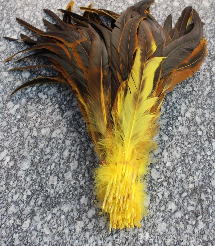 Envío gratis 100 unids alta calidad hermosas plumas de cola de gallo 30-35 cm / 12-14 pulgadas de color que elija boda decoración de la pieza central