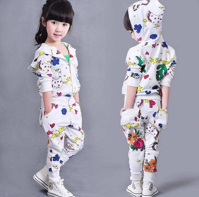 1020a701a 2019 Baby Girls Graffiti Clothes Set Babies Girl Sport Clothes ...
