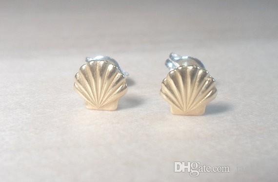 30 Paar Gold Silber Muschel Muschel Ohrringe Muschel Ohrstecker Strand Conch Ohrringe Nautische Ariel Meerjungfrau Ohrstecker Schmuck
