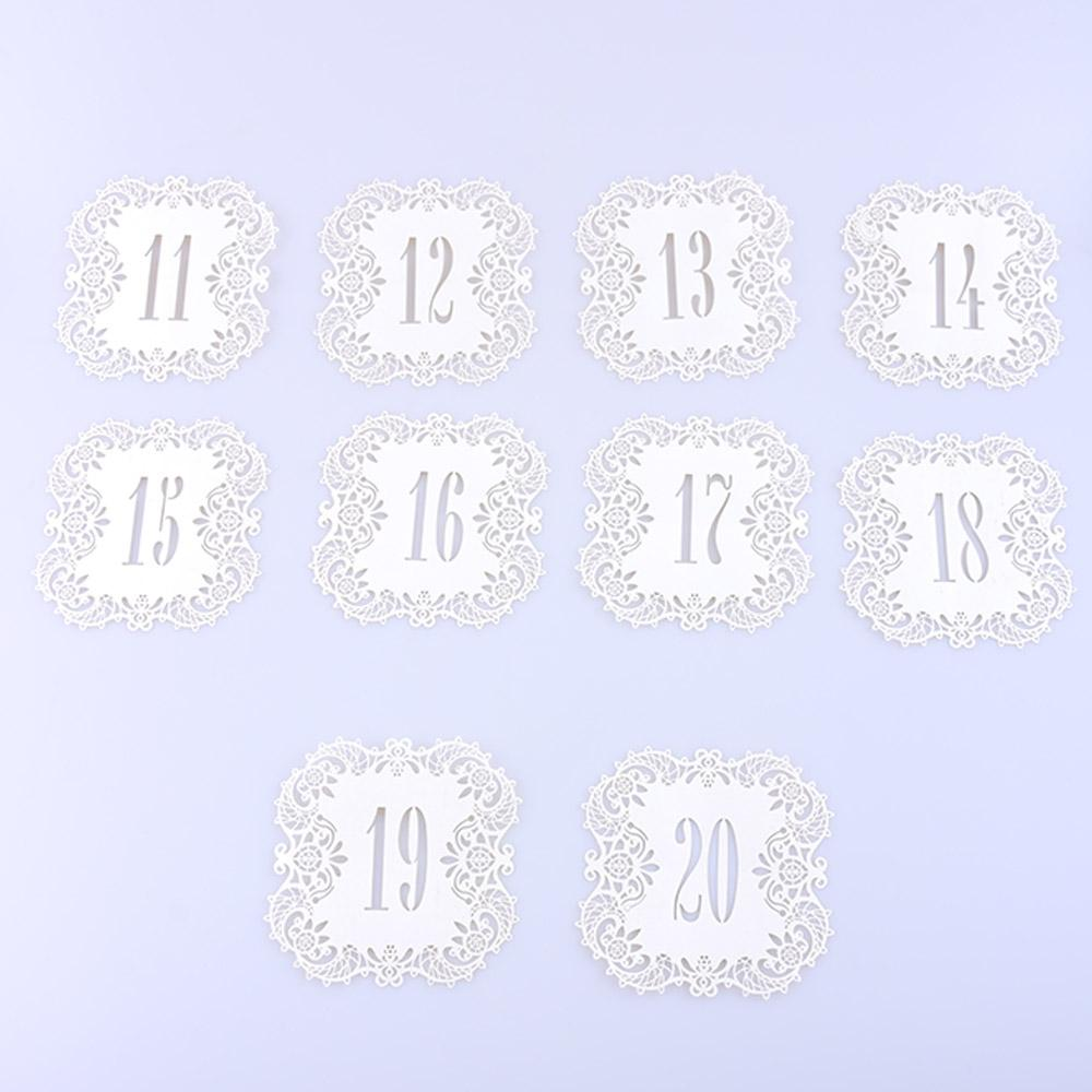 Vintage Wedding Table Number Table Cards Hollow Laser Cut Card Numbers Wedding Party Decoration Wedding Supplies Party Fav