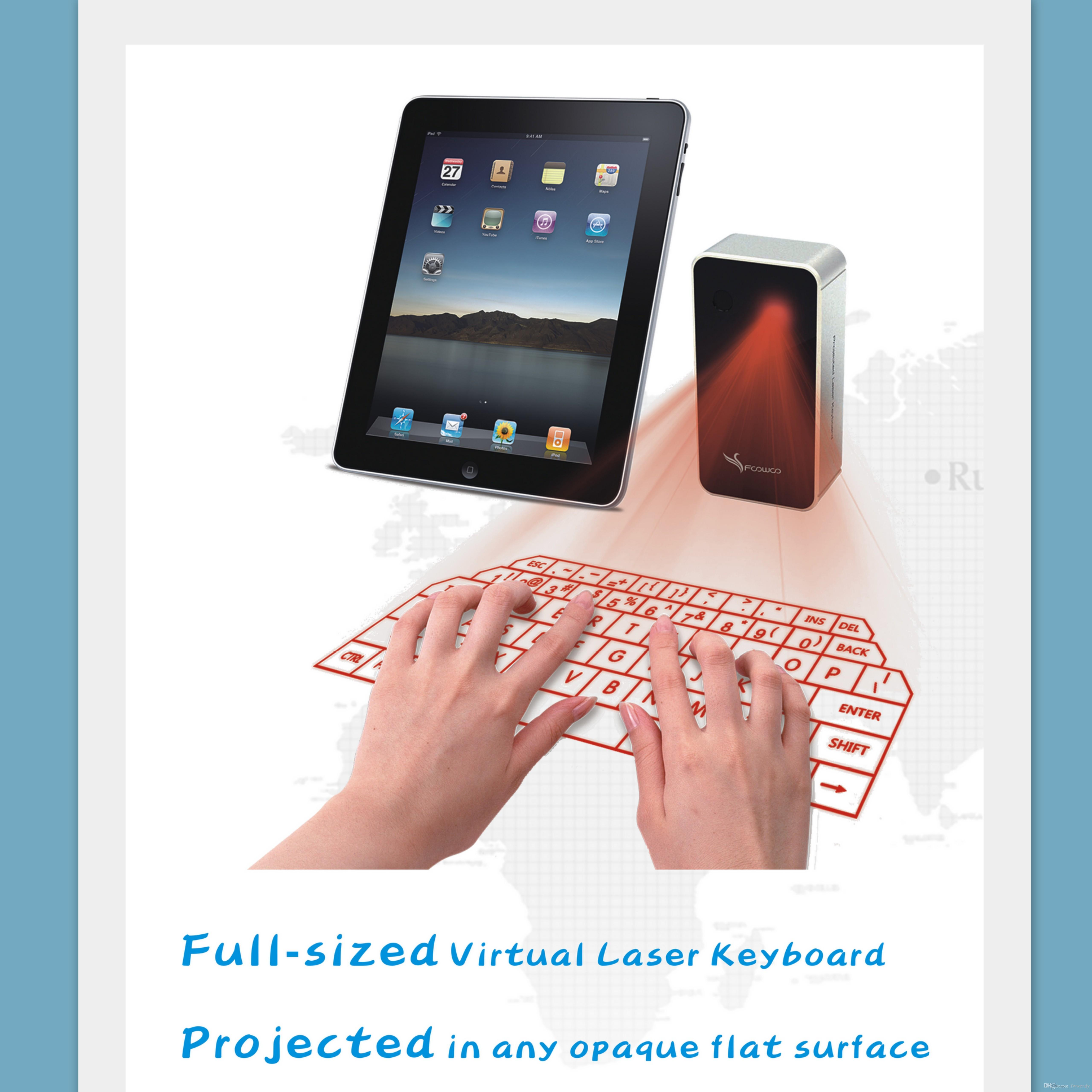 Promotional Gift Virtual Laser Projection Keyboard with Mouse Via ...