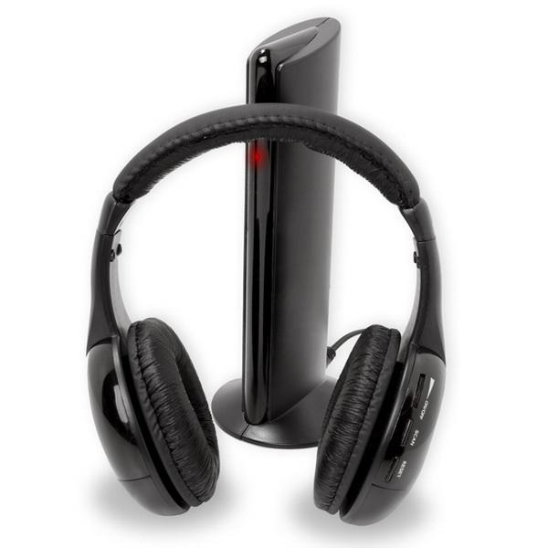 5 in 1 DJ Gaming HiFi Wireless Headphone Earphone Headset FM Radio Monitor MPTV Mobile Phones Headphones DHL