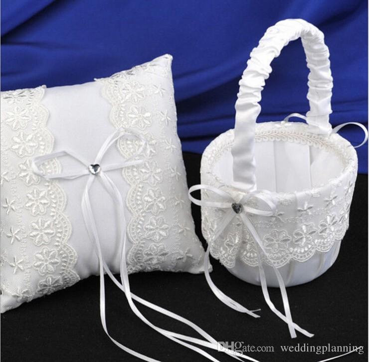 Flower Girl Baskets For Weddings: 2017 Wedding Rose Flower Girls Baskets Wed Child Favors