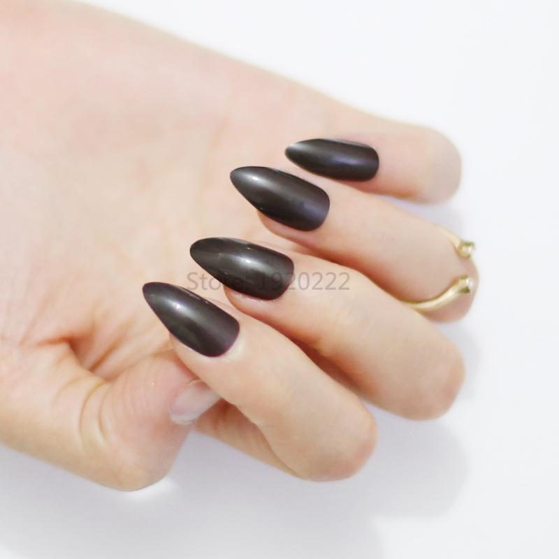 New Burst Section Long Pointed Candy False Nails Tail Tip Nail ...
