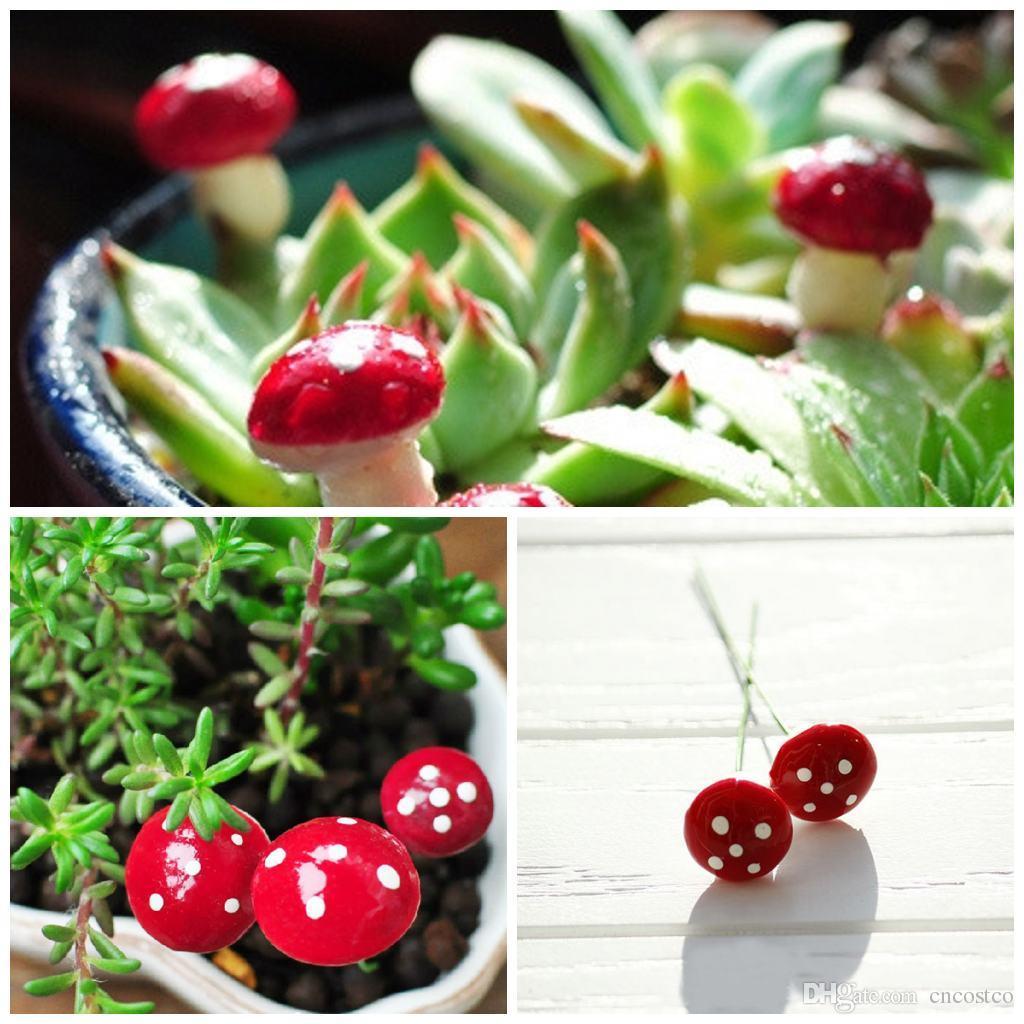 DIY Tiny Mushrooms Garden Terrarium Home Decor Crafts Bonsai Bottle ...