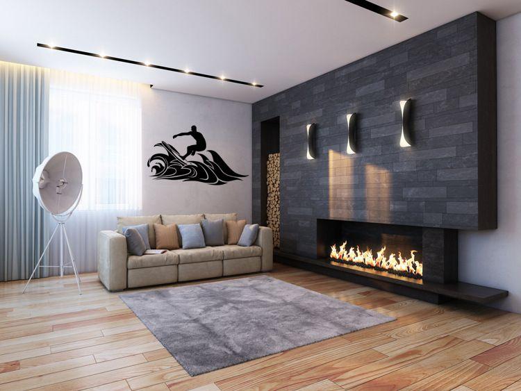 Surfing Pattern Wallpaper Bedroom Living Room European Style Home