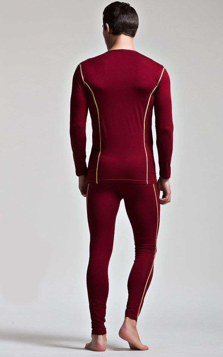 High Quality Men's Thermal Underwear Suits Top Bottom Fur Fleeced Long Johns Waffle Knit Keep Warm Undershirt Leggings Run Small