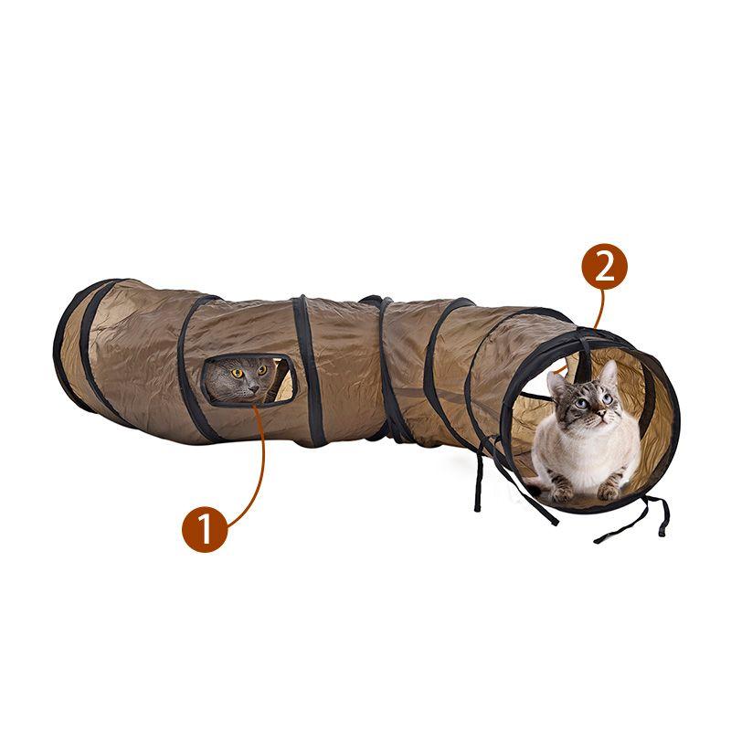 Новый Творческий Sigmate Забавный Pet Туннель Коричневый Складной 1 Отверстия Игрушка для Кошек Оптовые Игрушки Pet Play Туннель Прямая Цена Завода Поставки Для Домашних Животных
