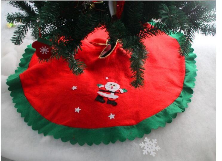 High Quality Decoracion Navidad Christmas Decorations For Home 2018  Straight Edge 90CM Non-Woven Christmas Tree Skirt Aprons