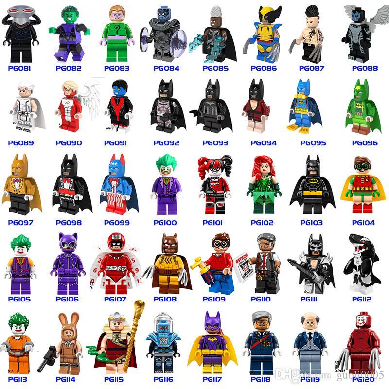 Venta al por mayor 600+ Bloques de construcción Figuras de Superhéroes Juguetes Los Vengadores Juguetes Joker Juguetes mini Figuras de acción Ladrillos minifig regalos de Navidad