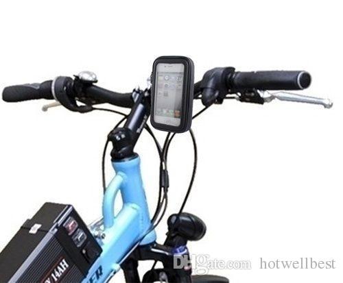 Motocycle bicicleta montar titular bicicleta à prova d 'água zipper estojo de couro para telefones celulares gps tamanho médio novo