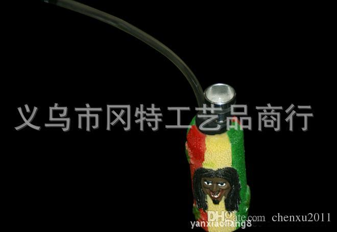 Wholesale 2015 new Reggae cannabina style hookah / glass bong, Hookah personality, style random delivery, easy to carry