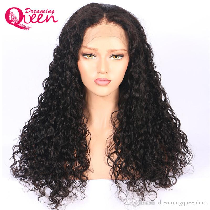Pre Plucked Full Lace Wig Water Wave Brazilian Hair Wigs For Black Women Swiss Lace Human Hair Wigs Virgin Hair