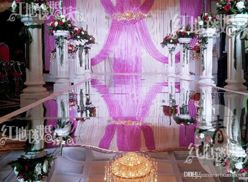 Popular Wedding Decoration Romantic Wedding Mirror Carpet T Stage 1m