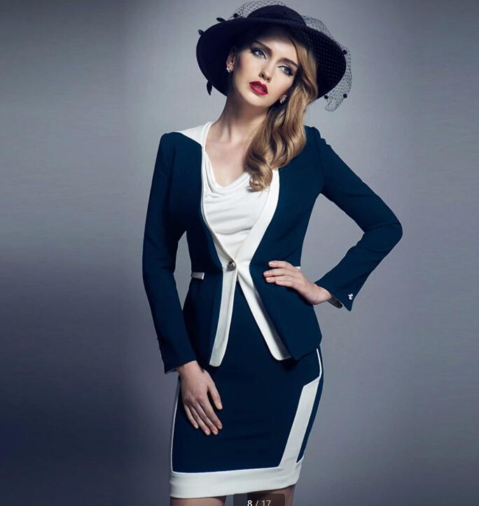Ms Business Attire Women's Suit Fashion Temperament Cultivate ...