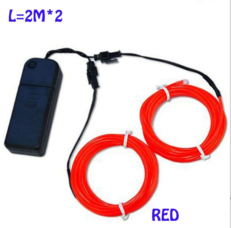 2.3mm 2xaa Battery Powered 3v 2m*2 Wire =4m, One Connector With 2 ...