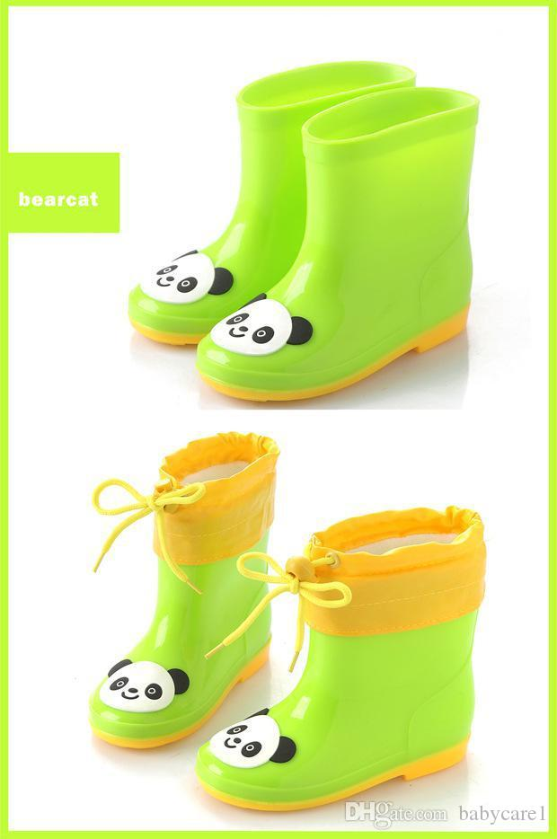 Waterproof Rain Boots Kids Shoes For Girls Winter Detachable Warm Boys Shoes Casual Baby Add Cotton Ankle Rubber Boots Children