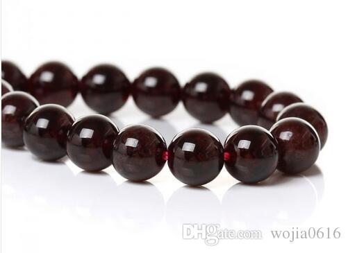 شحن مجاني جديد الحجر الطبيعي الظلام الأحمر العقيق جولة فضفاض الخرز 16