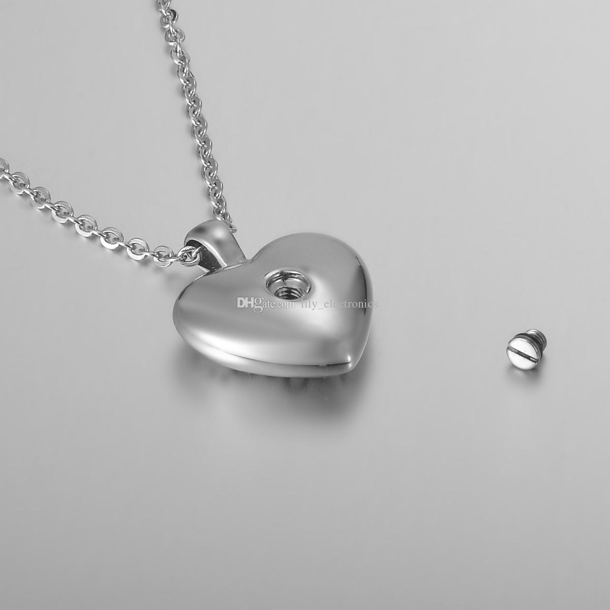 Lily Stainless Steel intage Filigree Heart Cremation Jewelry Ashes Pendant Keepsake Memorial Urn Necklace with Gift Bag And Chain