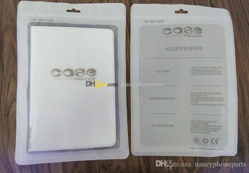 8.0'' Plastic Tablet Case Packaging Retail Bag For iPad Mini 2 3 4 Zipper Package Bags Clear Case Packing Pouch 19*28cm