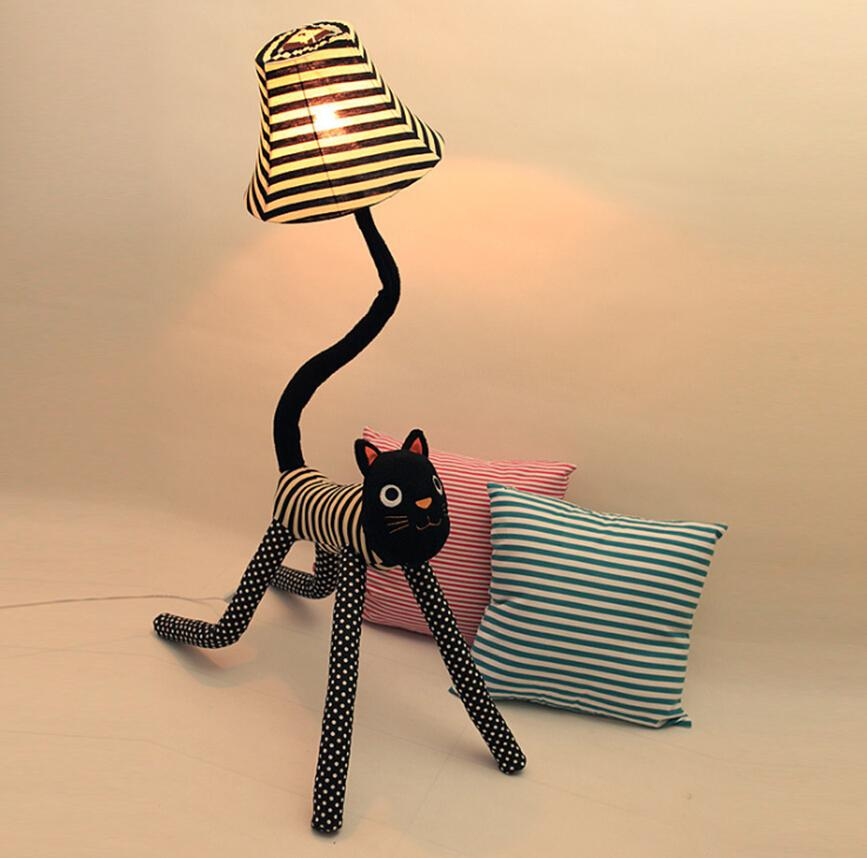 2017 Clown Cat Cloth Floor Lamps Standing Lamp Creative Cute