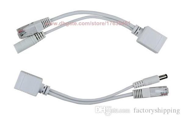 Tape screened POE Cable, POE Adapter cable, POE Splitter Injector synthesizer separator combiner