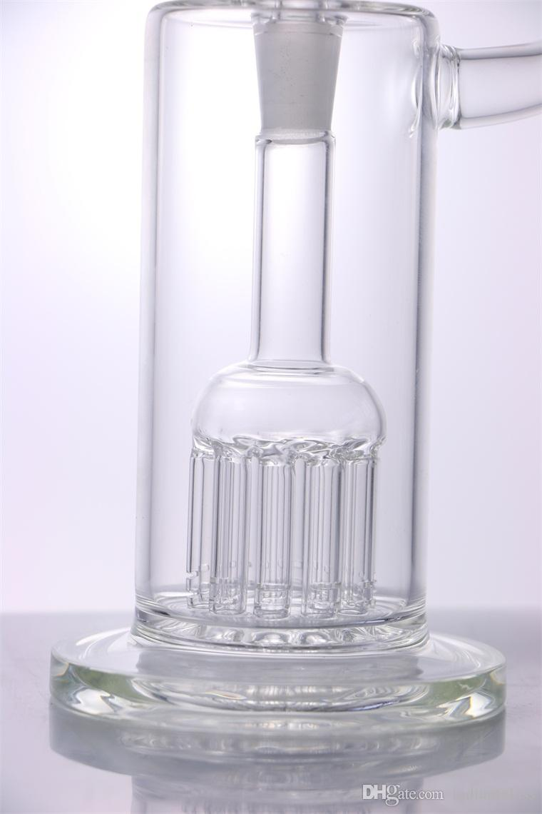 Glass Bong 8 inches Heady 10 Arms for PERC Water Pipe small Dab Rig water bubbler