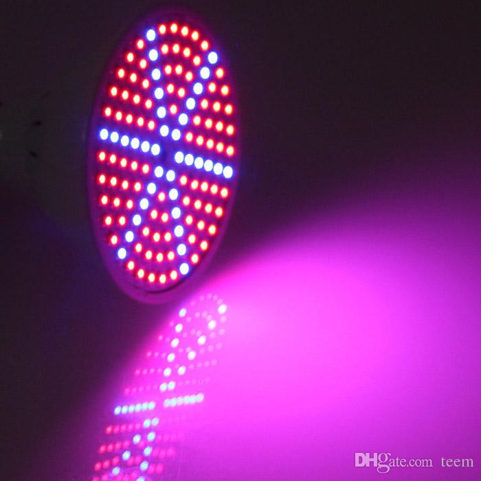 Mais novo hidroponia de iluminação 85-265 V 15 W E27 AZUL VERMELHO SMD 126 LEDS Hidropônico LEVOU Planta De Floração Crescer Luzes led lâmpada LED lâmpada de luz 50