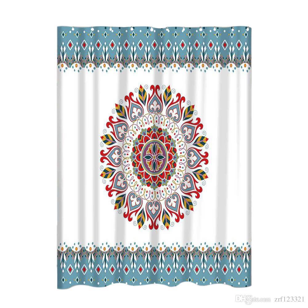 Salle De Bain Motif Fleur ~ acheter mandala fleur motif salle de bains rideau mildew r sistant