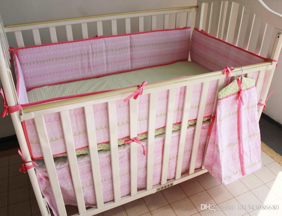 High Quality Children Bed Bedding Around Set 100% Cotton Crib Sets,Soft Comfortable Baby Bedding Set Unpick