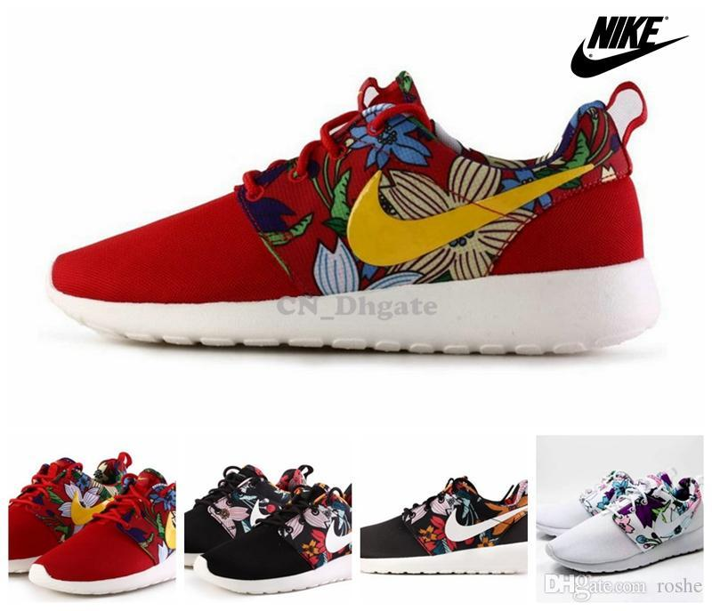 best service 43eab 513b4 Wmns Nike Roshe One Print Bold Berry Floral Flower Multi Color Women Men  Running Shoes, Cheap Roshes Run Sport Trainers Size 36 45 Best Running Shoes  ...
