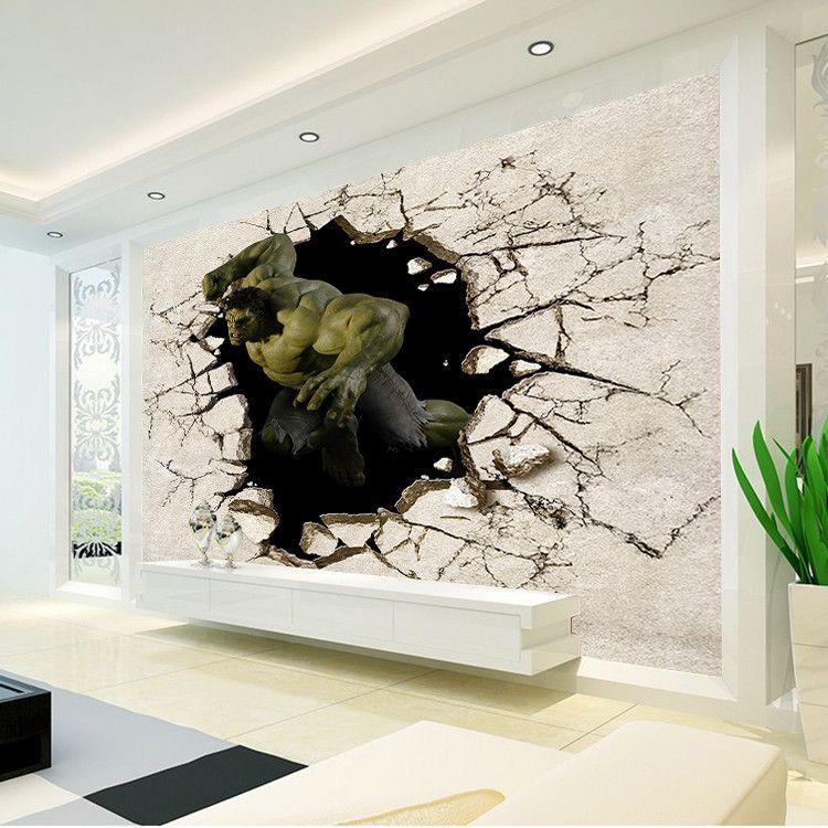 Großhandel Avengers Boys Schlafzimmer Fototapete 3D Hulk Wandbild Designer  Wallpaper Home Dekor Kid Schlafzimmer Wohnzimmer Sofa TV Hintergrund Wand  ...