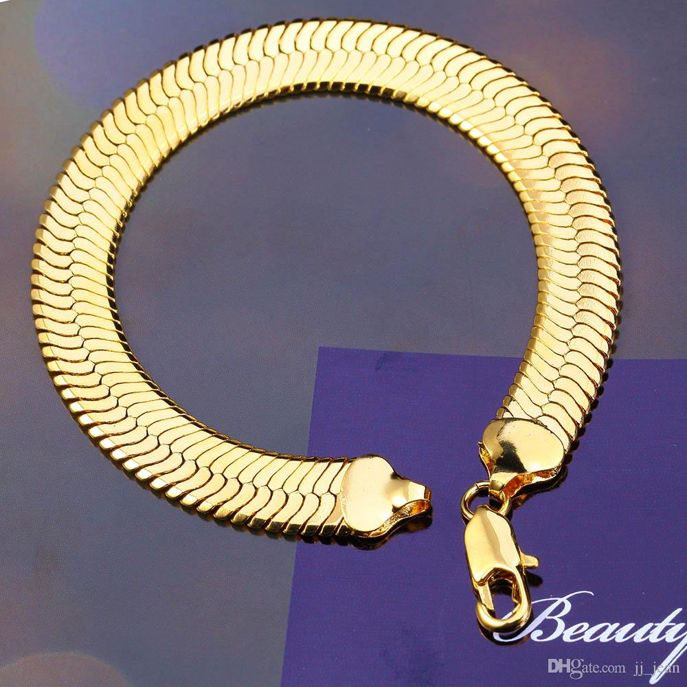 Hot Sale Bracelets 11MM Cuban Hiphop For Men And Women Brand New Top Quality 18K Gold Filled Link Chain Fine Jewelry