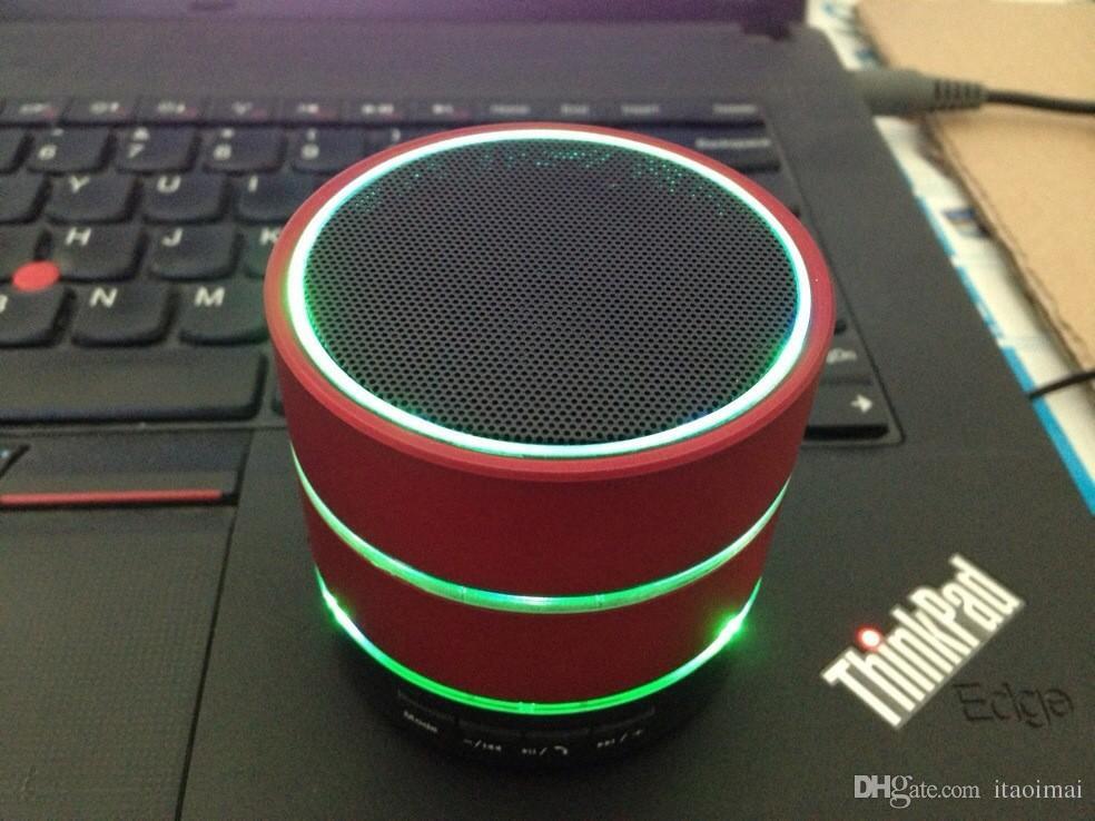 LED Speaker S09 Enhanced Speaker LED Light Ring Super Bass Metal Mini Portable Beat Hi-Fi Bluetooth Handfree