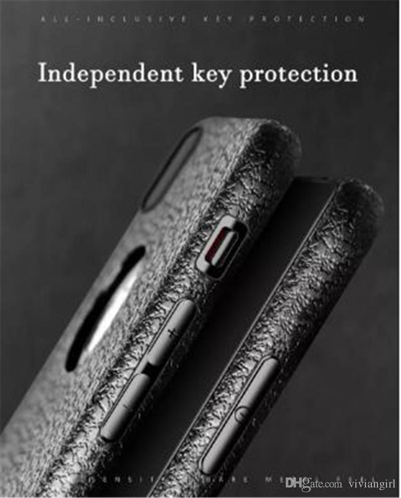 linhas de couro de luxo caso do iPhone para iphone X 8 8plus 7 7plus 6 / 6s 6plus / 6s mais anit-impressão digital anti-choque em TPU para DHL transporte livre